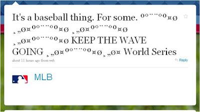 MLB Keep The Wave Going Baseball tweet