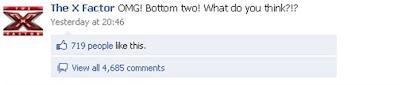 X Factor Facebook comments
