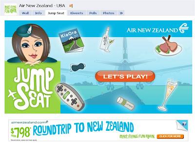 AirNZ Jump Seat Facebook game