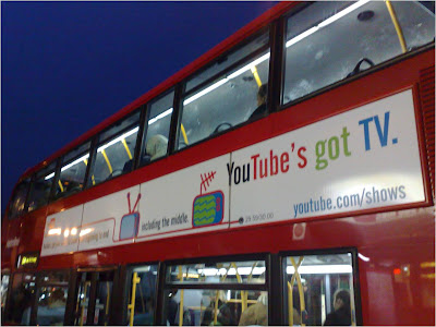 YouTube TV advertising on London bus2