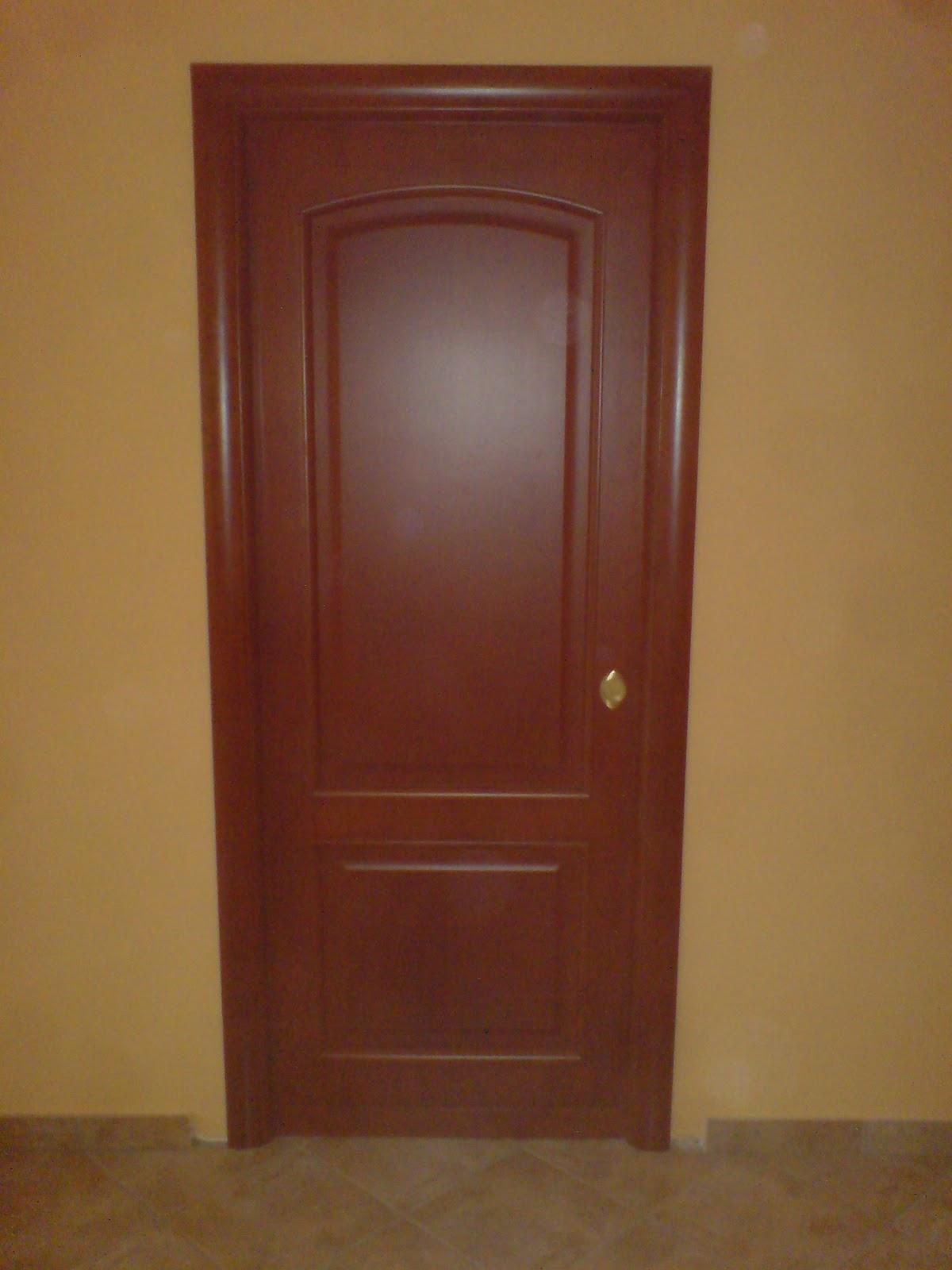 Ilvecchioartigiano porte in noce tanganica color ciliegio - Porte noce tanganica ...
