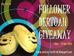 'Follower Bertuah Giveaway'