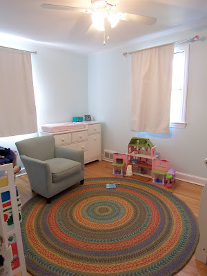 Garnet Hill Fair Isle round rug in child's room