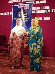 YAM Tuanku Hajah Shahriah Binti Tuanku Abdul Rahman bersama Penulis Bonda Umi Shahin