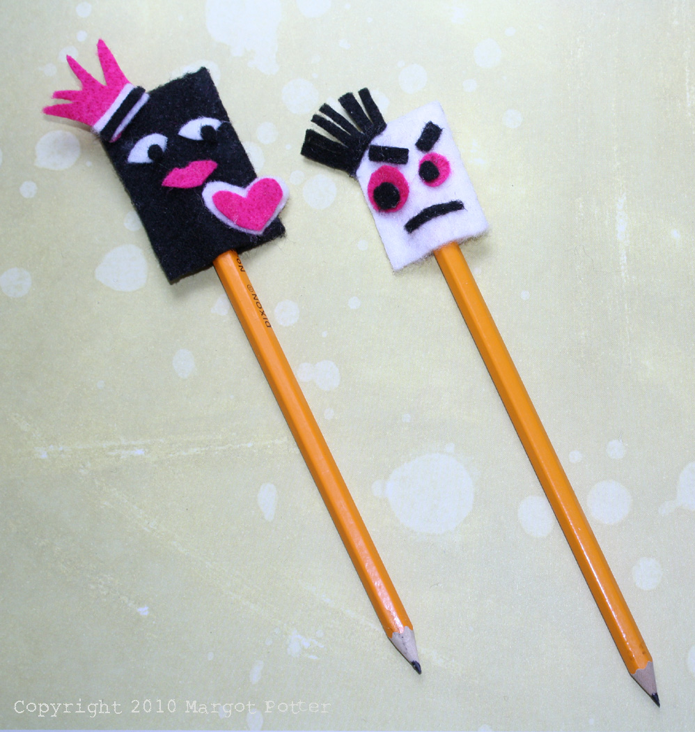 ILoveToCreate Teen Crafts: Felty Good Pencil Toppers Copyright Margot Potter