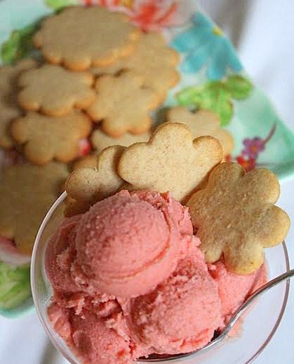 ... Journal: Tart Cherry Frozen Yogurt with Crispy Honey Cookies