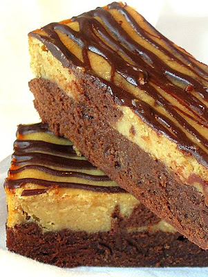 ... to Another: Peanut Butter & Chocolate Cheesecake Swirl Brownies