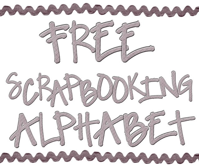 Paigeandbrooke Free Scrapbooking Letters