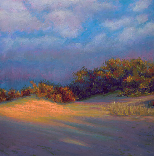 Pastel Painting: Last Dune Light Sunset Cape Cod Painting