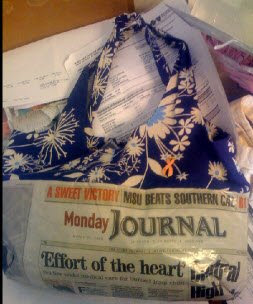 newspaper purse