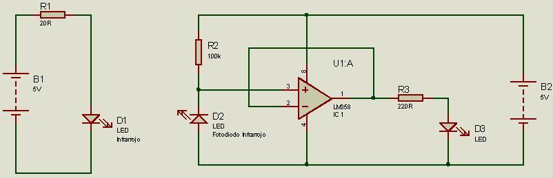 Circuito Emisor Receptor : Ayuda web emisor receptor infrarrojo