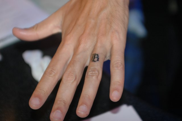 finger tattoo. finger tattoos because the