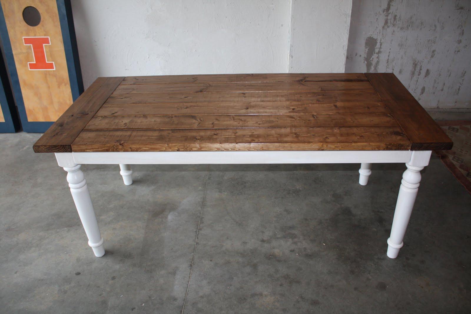 the rustic farm house table