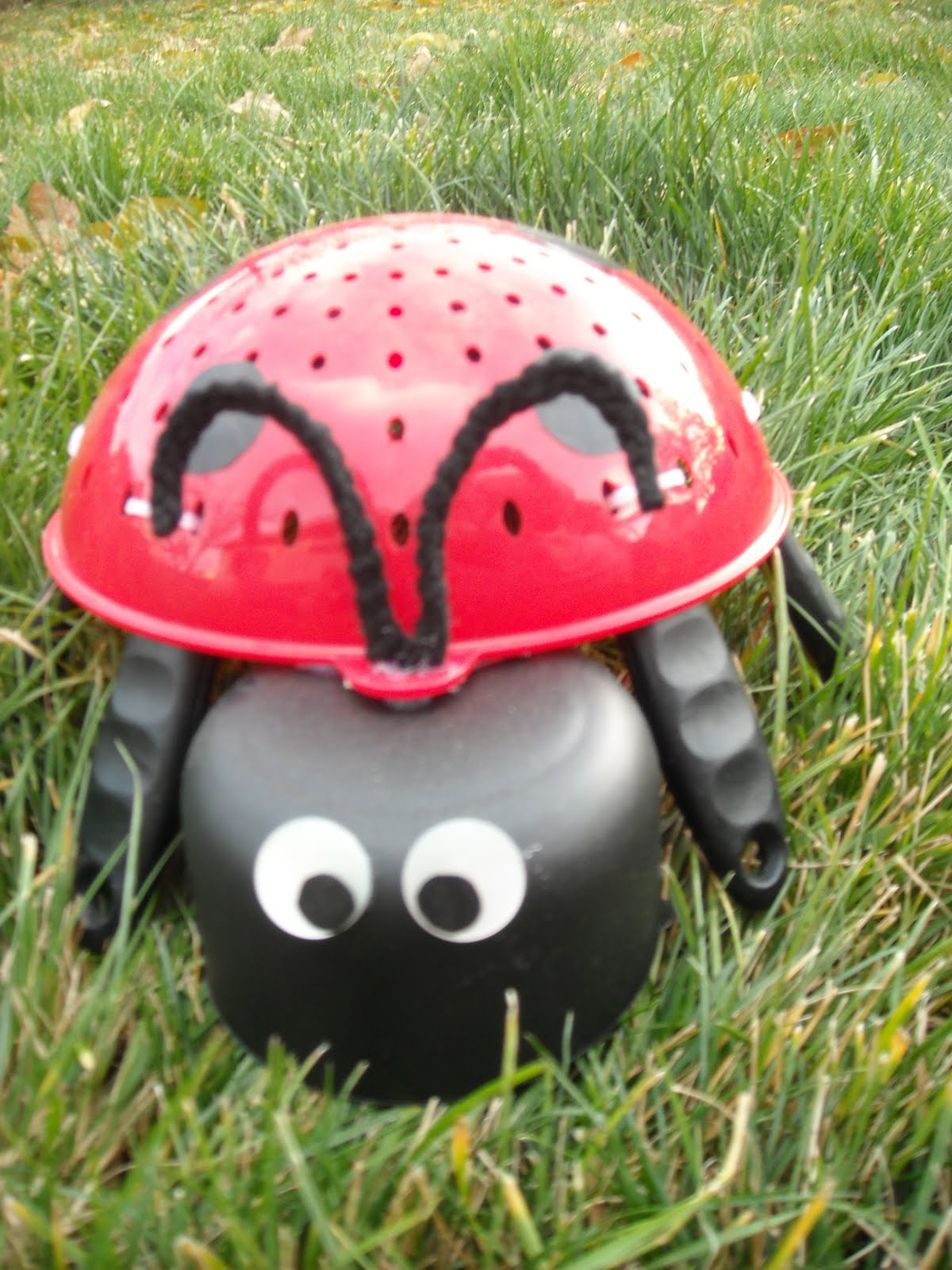 Yard Art Ideas http://sarahatbeyondallmeasure.blogspot.com/2009/11/lady-bug-yard-art-tutorial.html