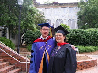Julia Buckner, MDiv 09, with Professor David Petersen (photo by Michelle Levan).