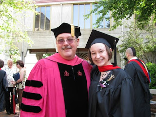 Lauren Lobenhoeffer, MDiv 09, with Professor Rex Matthews (photo by Michelle Levan)