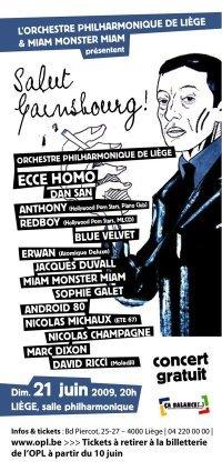 """Soirée """"Gainsbourg"""" au Philharmonique - Liège"""