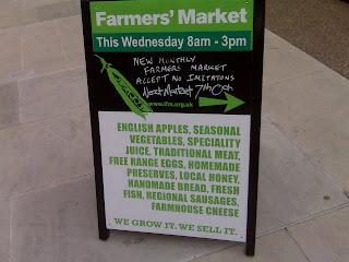 Devonshire+Square+Farmers+Market+signboard