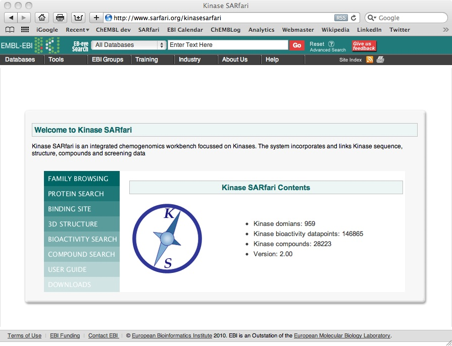 The chembl og april 2010 new release of kinase sarfari stopboris Images