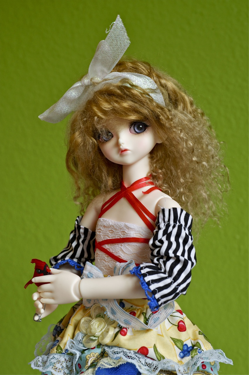 """Heat resist American Girl /""""Fun Snow Blonde/"""" Curly Replacement Wig for 18/'/' Doll"""