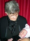 Nana holding Avery Bella (2 months old ~ Jan. 08')