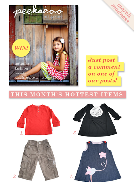 WIN Peekaboo Magazine and the Hottest items instore