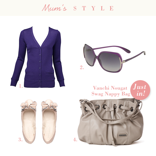 chic mother and baby mum's styling with new vanchi bag