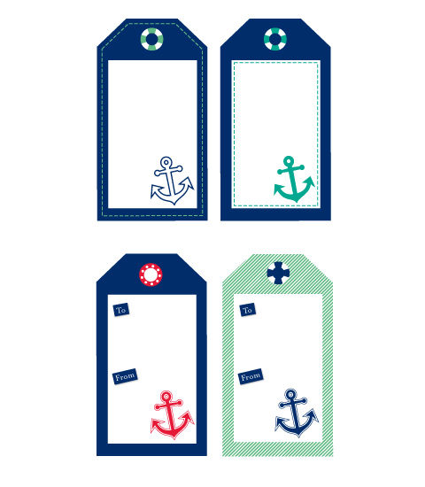 Nautical Wedding Gift Tags : Free Sailor Nautical Tags Chic Mother & Baby Blog {daily}