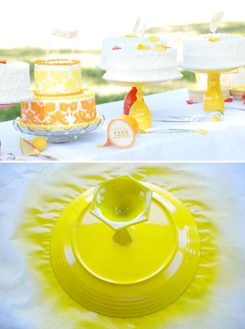 Diy cake stand chic mother baby blog daily for Plate cake stand diy