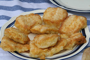 Merluza frita ( fried hake) - Any restaurant in Sanse Old Town- 10 mins from home