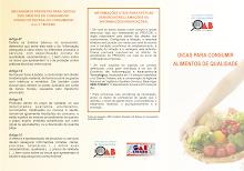 Folder dicas para consumir alimentos de qualidade