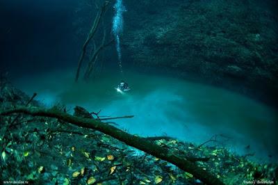 foto ajaib sungai dalam laut
