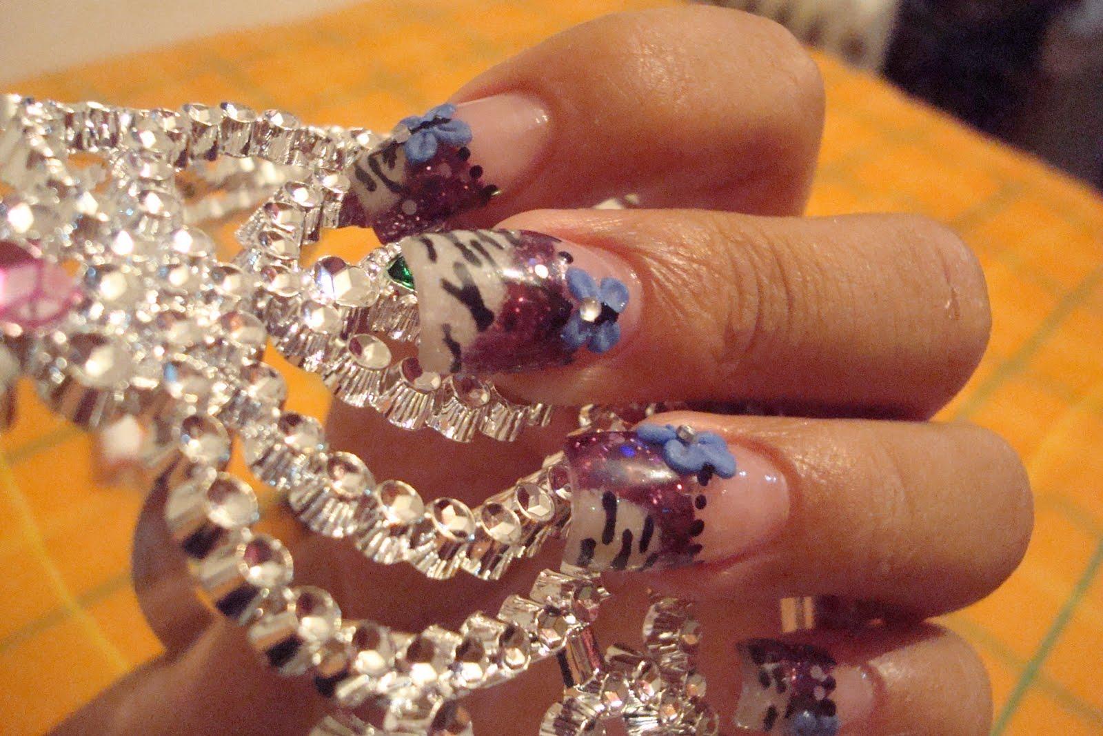diseños de uñas de acrílico para novias