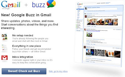 Gmail&#039;s New Social Network, Google Buzz, Google Buzz in Gmail