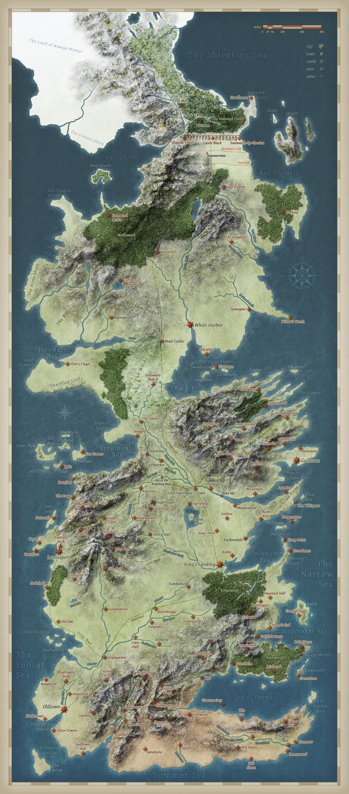 Westeros from Space