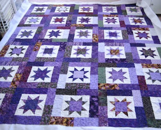 All Things Quilty and Artsy: Purple Lucky Stars : lucky star quilt pattern - Adamdwight.com