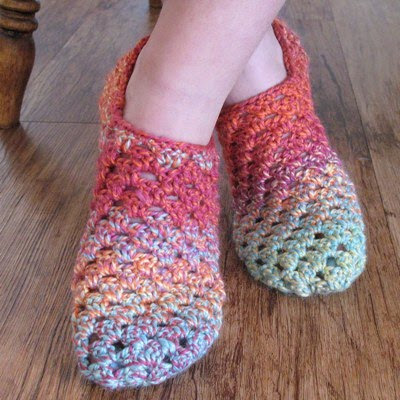 CROCHET GRANNY SLIPPER SQUARE ? Only New Crochet Patterns