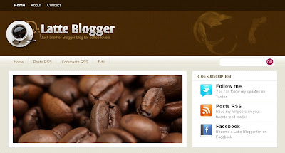 latte-blogger-template