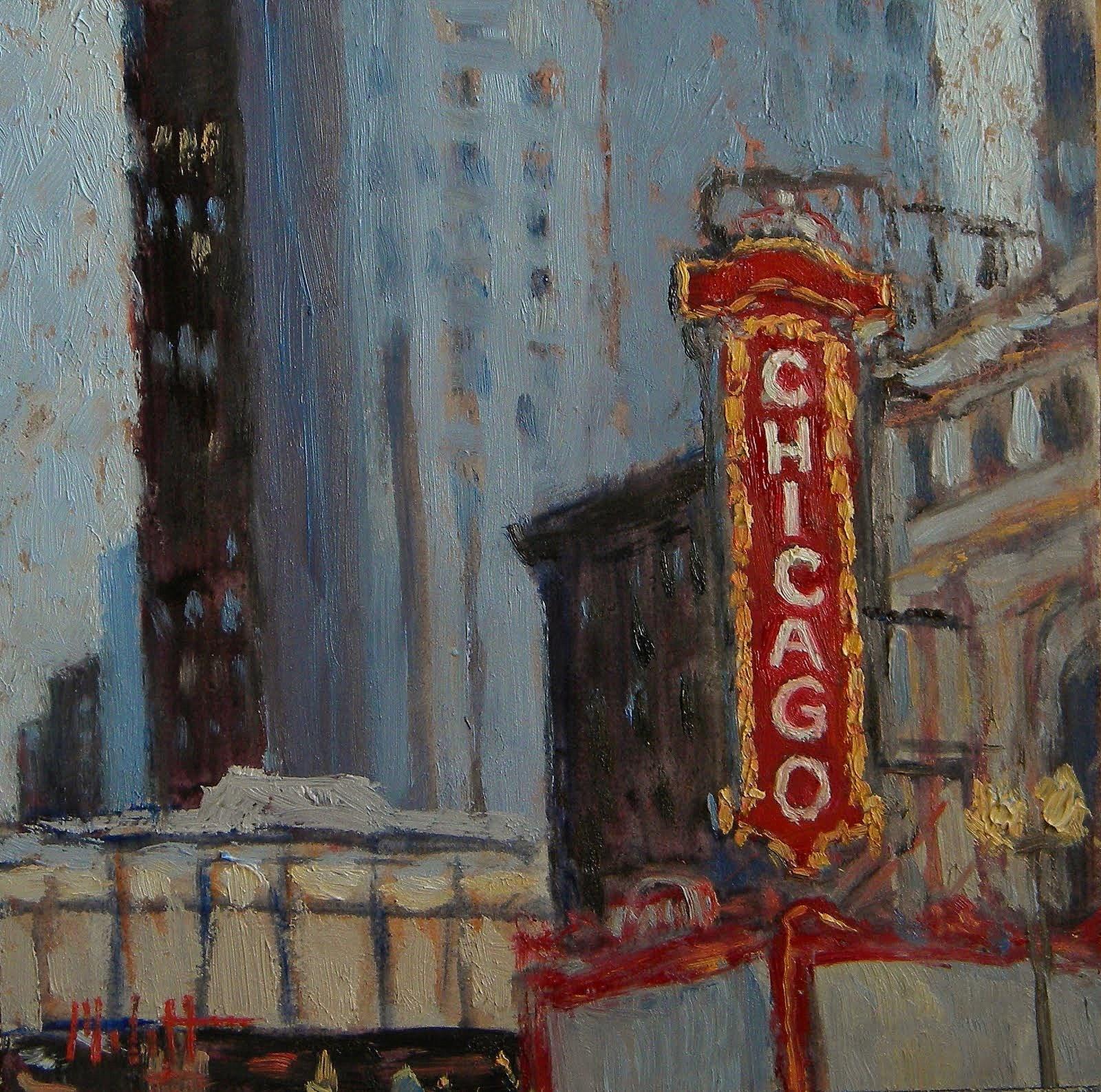 Heidi malott original paintings chicago theater painting for Chicago mural artist