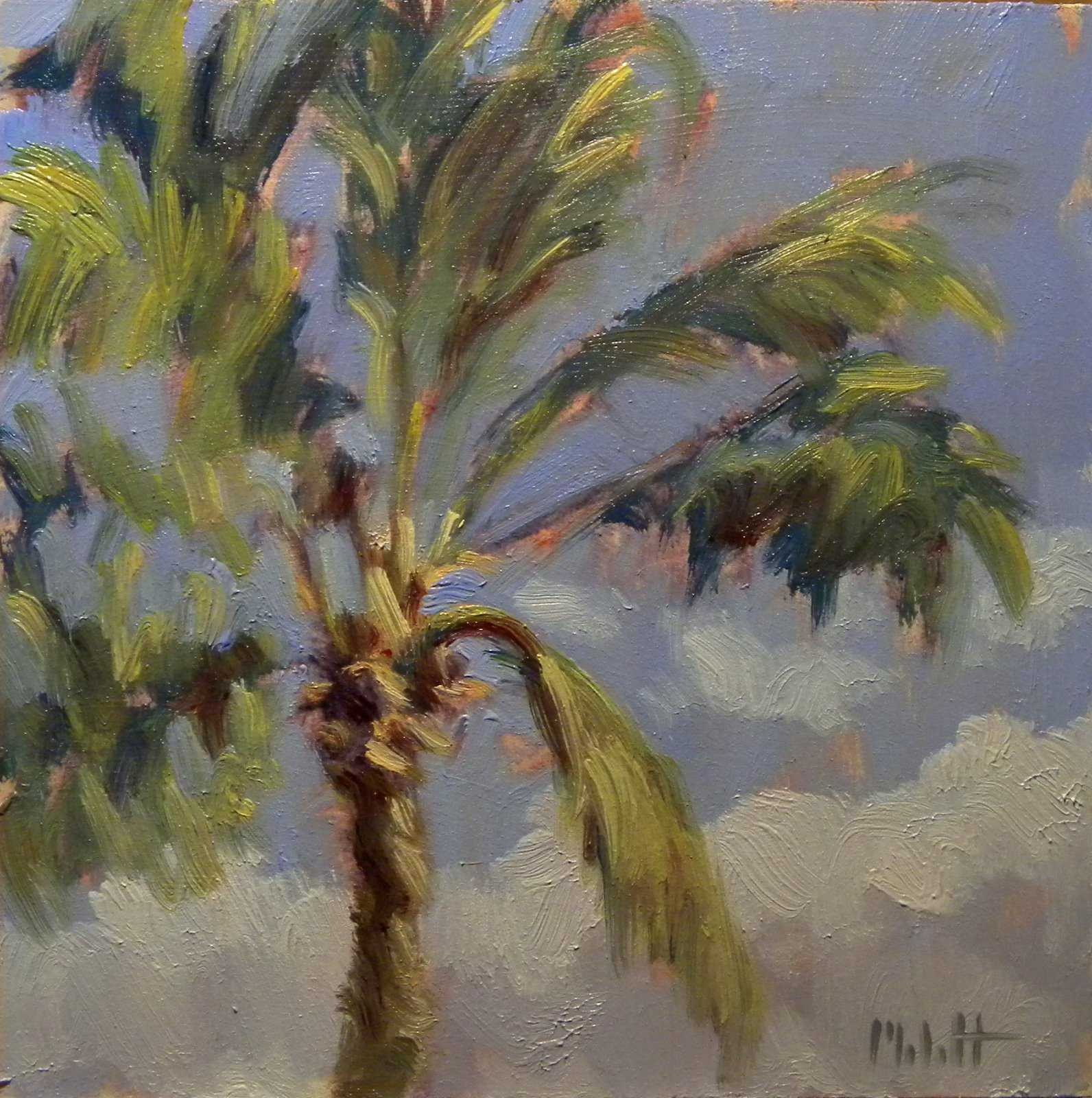 Original art paintings by heidi malott palm tree for Painting palm trees