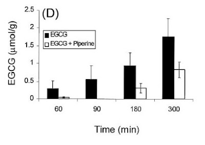 Piperine and absorption of EGCG