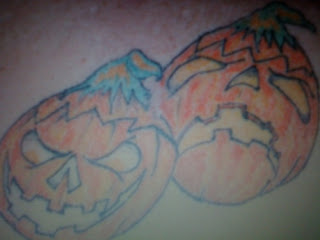 pumpkin Halloween tattoo