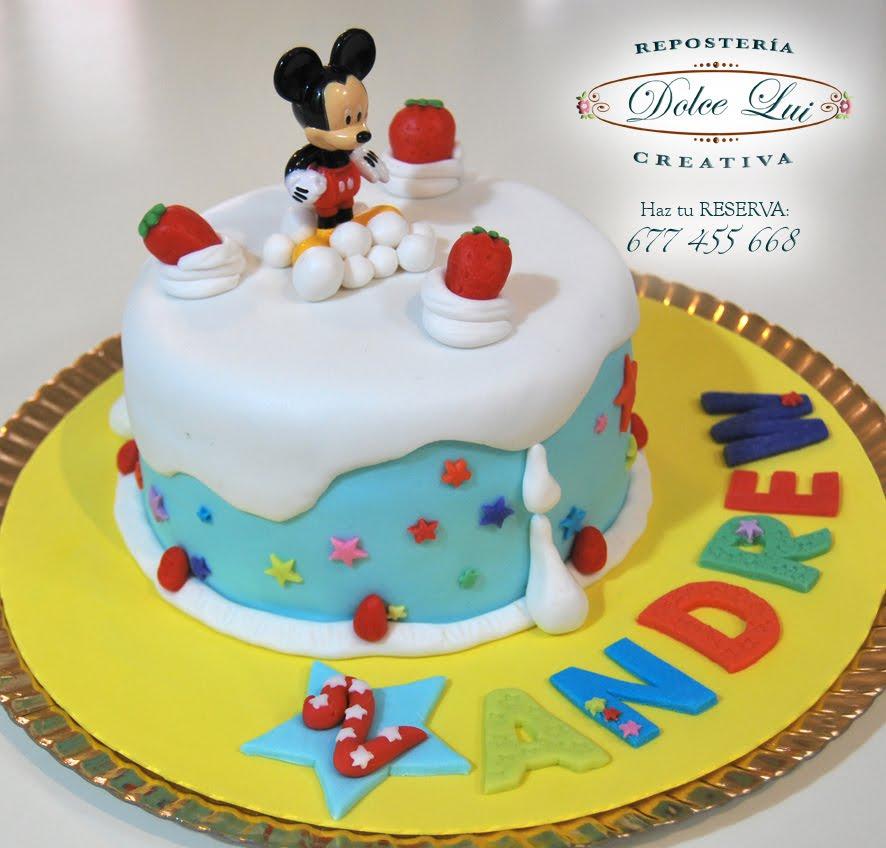 ... - Galletas Decoradas: Tarta Mickey para Andrew en su 2º cumpleaños