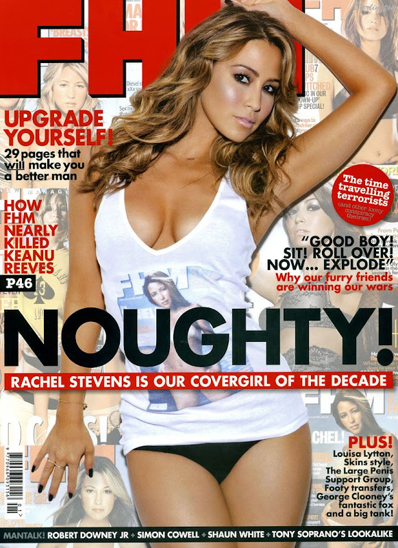 Rachel Stevens on FHM Cover January in Bikini