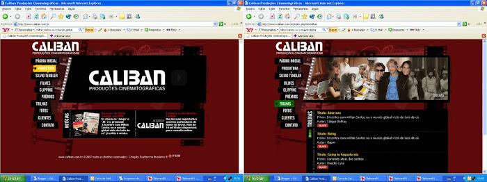 Site Caliban Produções Cinematográficas