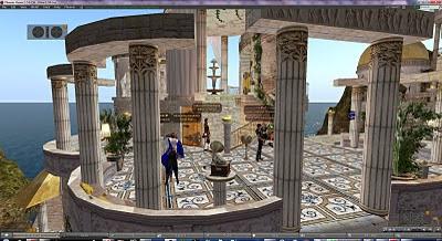 Da Vinci Gardens, dancing terrace