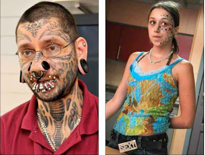 now here's one of the tattoo artist. Details at the Daily Mail.