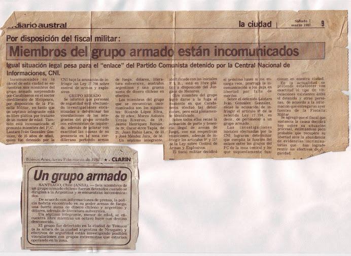 """EL """"CONDOR"""" CONTRA MENORES DE EDAD KUPAL LONCON MELLADO"""