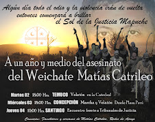 A UN AÑO Y MEDIO DEL ASESINATO DEL WEICHAFE MATIAS CATRILEO