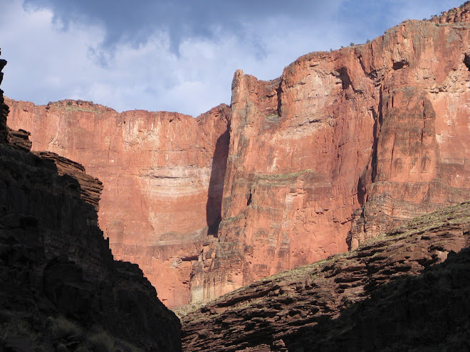 towering canyon walls